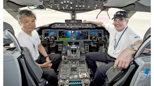 ANA Capt. Ishii, left, and 787 chief test pilot Mike Carriker. credit: Boeing Commercial Airplanes