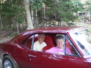 Uncle John and Aunt Ruth in the Camaro.