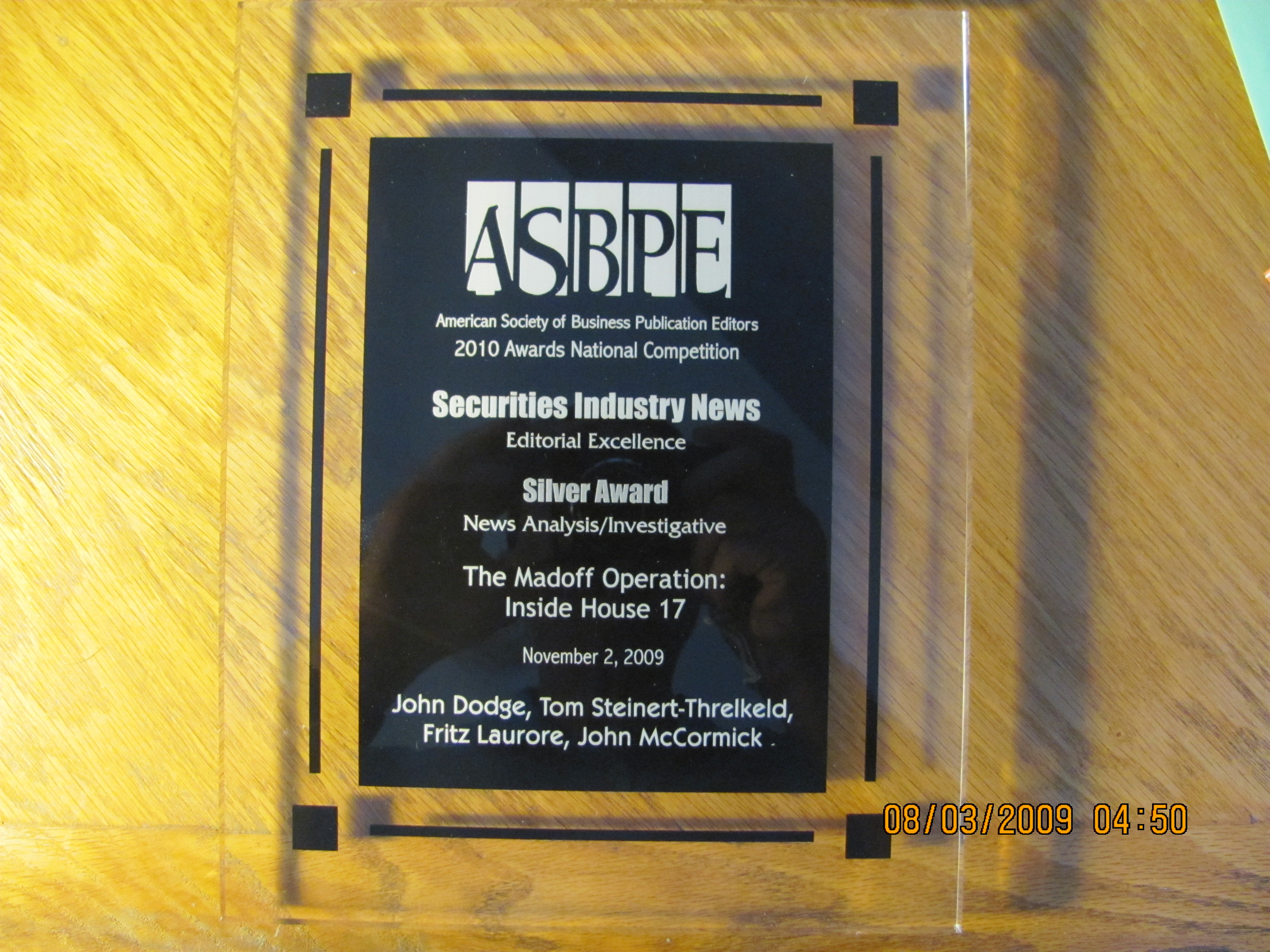 Dodge wins Silver ASBPE Award for Investigative/News Analysis