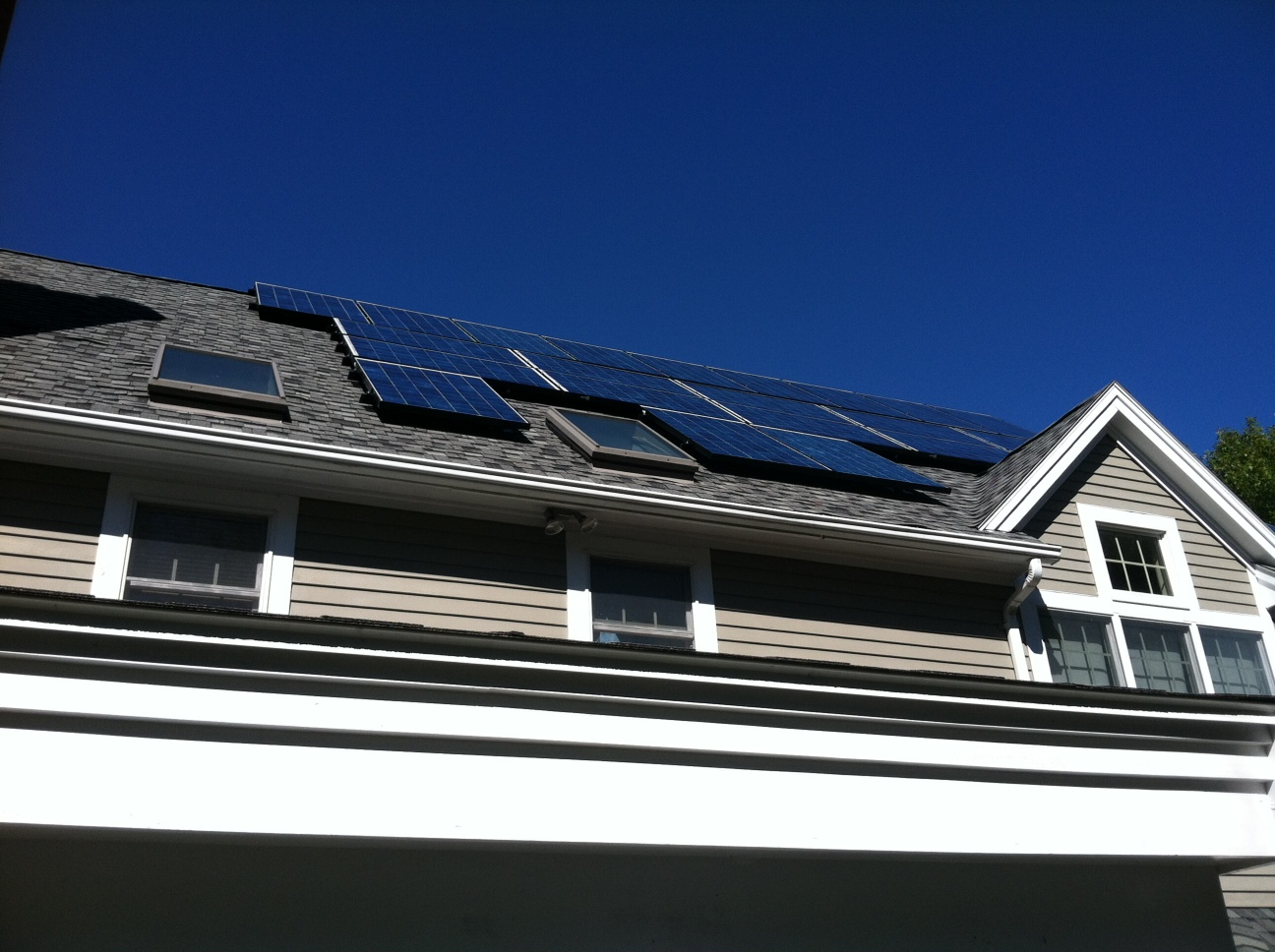 Solar electricity keeps humming at my house