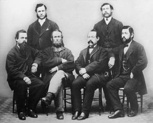 (L. to R.) John L., Elisha, Nathan Dane Sr. (father), Moses, William Henry, Nathan Dane Jr.